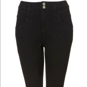 Topshop Moto Black Skinny Jeans